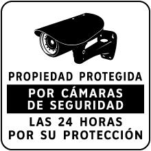 Spanish Property Under 24 Hour Surveillance Sign