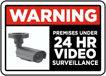 Under 24 Hr Video Surveillance Sticker