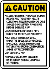 California Spa Warning Sign