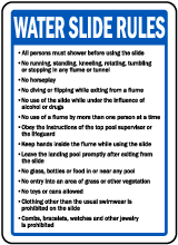 Nevada Water Slide Rules Sign