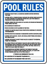 Washington Pool Rules No Lifeguard on Duty Sign