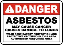 2016 OSHA Compliant Asbestos Sign