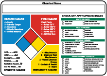 NFPA Target Organ Container Label
