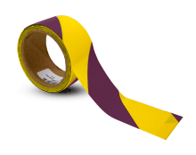 Magenta / Yellow Striped Floor Tape