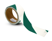 White / Green Striped Floor Tape