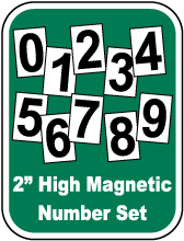 Magnetic Scoreboard Number Set