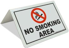 Table Top No Smoking Area Sign