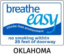 Oklahoma No Smoking Sign
