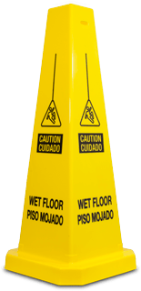 Yellow Wet Floor Cones