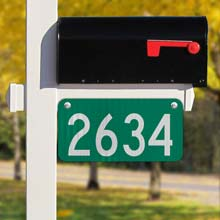 Green Horizontal 911 Address Sign