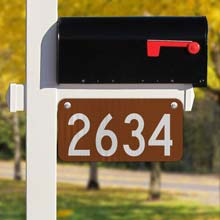 Brown Horizontal 911 Address Sign