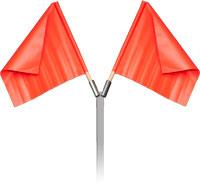 Orange Vinyl Flag with Wood Handle - Pack of 2