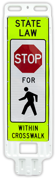 Replacement Stop for Pedestrians Crossing Panel