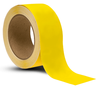 Yellow Vinyl Floor Marking Tape