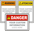 Custom ANSI Z535 Safety Sign