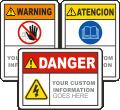 Custom ANSI Z535 Safety Sign
