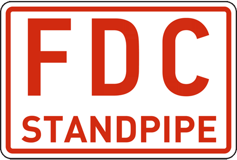 FDC Standpipe Sign
