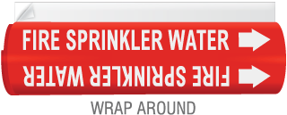High Temp. Fire Sprinkler Water Pipe Marker