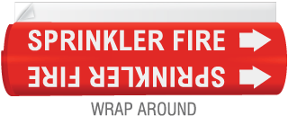 High Temp. Sprinkler Fire Pipe Marker