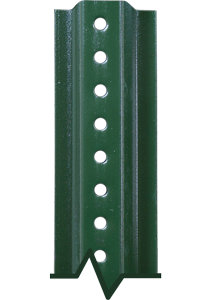 U-Channel Anchor Posts - Green Enamel and Galvanized