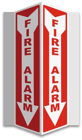 Fire Alarm 3-Way Sign