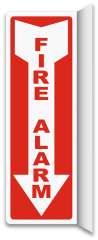 Fire Alarm 2-Way Sign