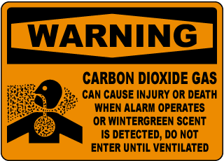 Warning Carbon Dioxide Gas Can Cause Injury Or Death Sign