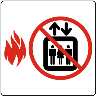 Do Not Use Elevator In Case Of Fire symbol sign