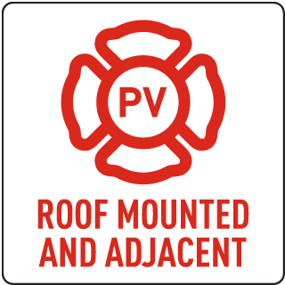 Roof Mounted and Adjacent Solar Panel Sign