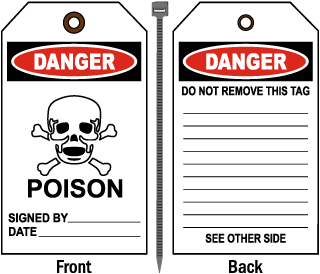 Danger Poison - Signed By:.. Tag