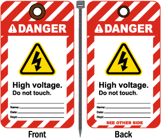 Danger High voltage Do not touch Tag