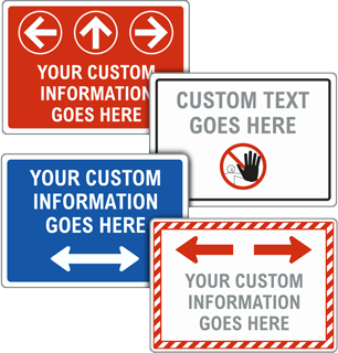 Custom Sign with Colored Border, Text, and Image