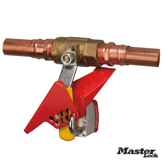 wedge style 14 turn ball valve lockout