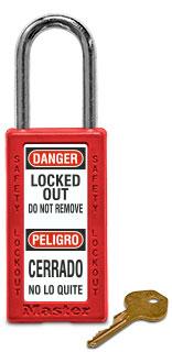 Bilingual Keyed Different Plastic Safety Padlock