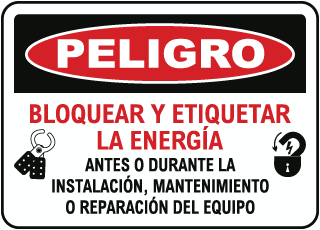 Spanish Danger Lock Out & Tag Out Sign