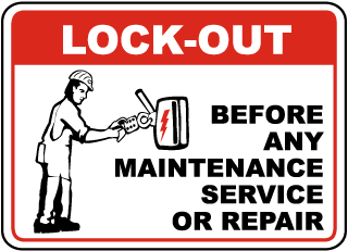 Lock-Out Before Any Maintenance Service Or Repair