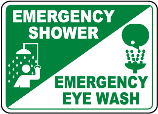 Emergency Shower Emergency Eye Wash Sign