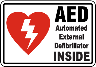 AED Automated External Defibrillator Inside Label
