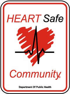Heart Safe Community Department of Public Health Sign