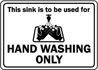 This sink is to be used for hand washing only sign