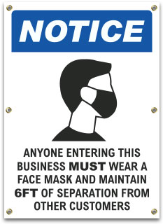 Wear a Face Mask Banner