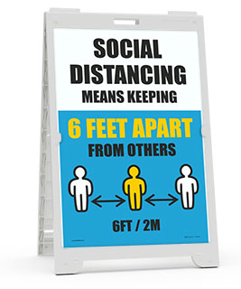 Social Distancing Is Keeping 6 FT Apart Sandwich Board Sign