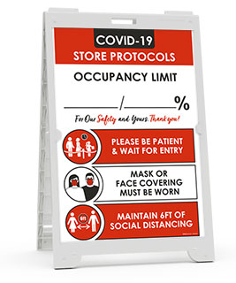 COVID-19 Store Occupancy Percentage Sandwich Board Sign