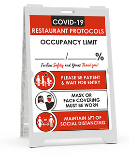 COVID-19 Restaurant Occupancy Percentage Sandwich Board Sign