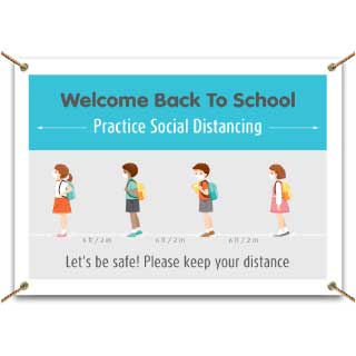 Back to School Social Distancing Banner