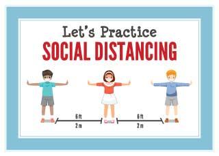 Let'S Practice Social Distancing Banner