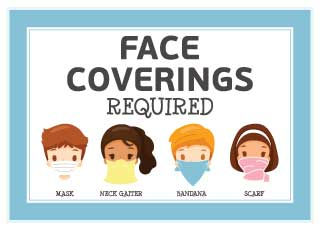 Face Coverings Required Banner
