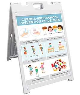 Coronavirus School Prevention Guidelines Sandwich Board Sign