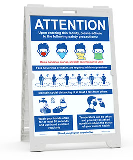 Attention Safety Precaution Sandwich Board Sign