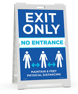 Exit Only No Entrance Sandwich Board Sign